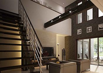 住宅情報館 - シースルー階段