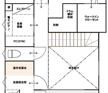 3rd_plan 吹き抜け・階段部分